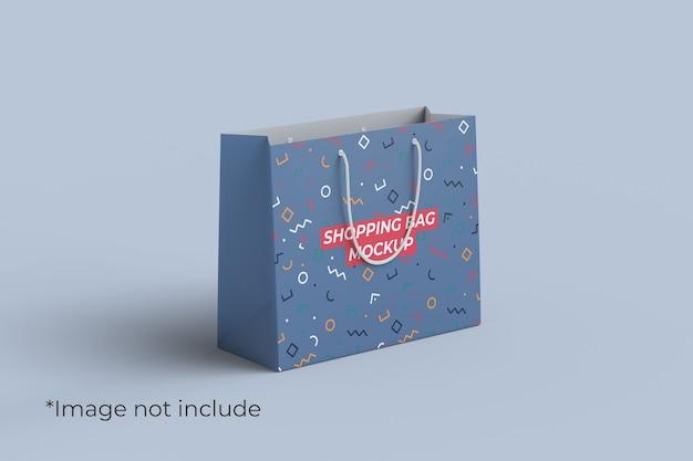 Maquete de sacola de compras com vista de ângulo esquerdo