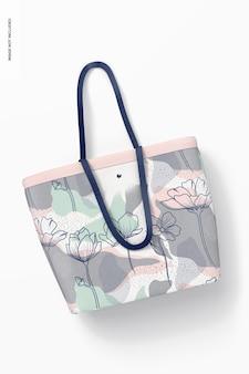 Maquete de sacola de compras de grife