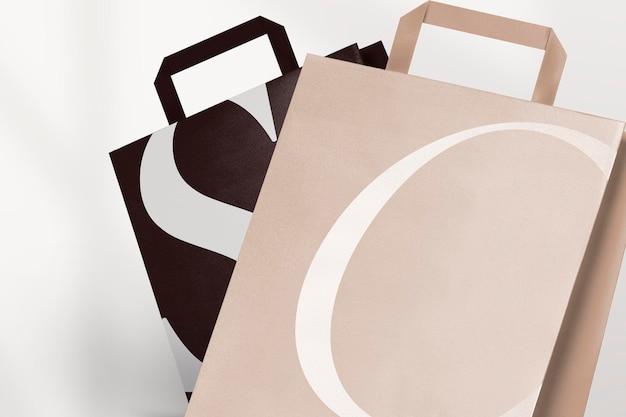 Maquete de sacola de compras de papel psd
