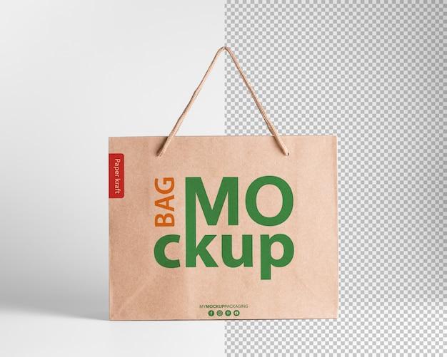 Maquete de sacola de compras de papel