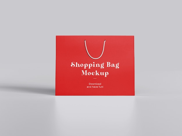 Maquete de sacola de compras frontal