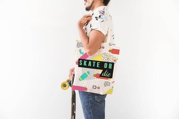 Maquete de sacola de compras moderna