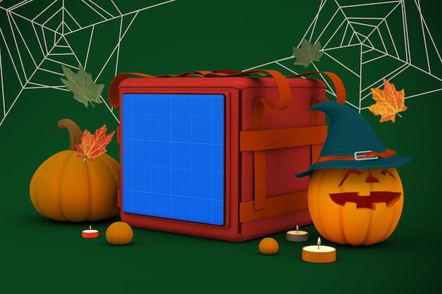 Maquete de sacola de entrega de halloween