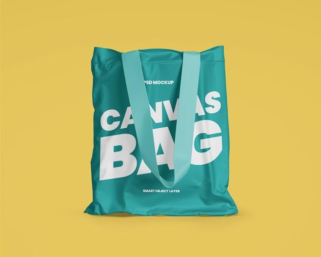 Maquete de sacola de lona