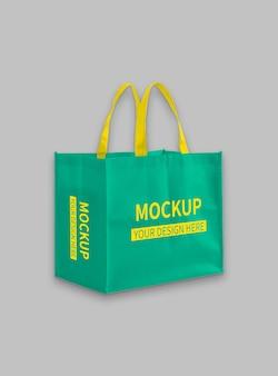 Maquete de sacola de pano de compras