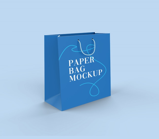 Maquete de sacola de papel