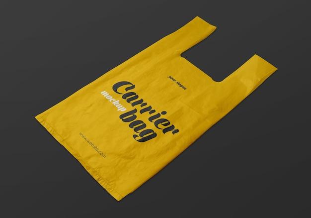 Maquete de sacola de plástico