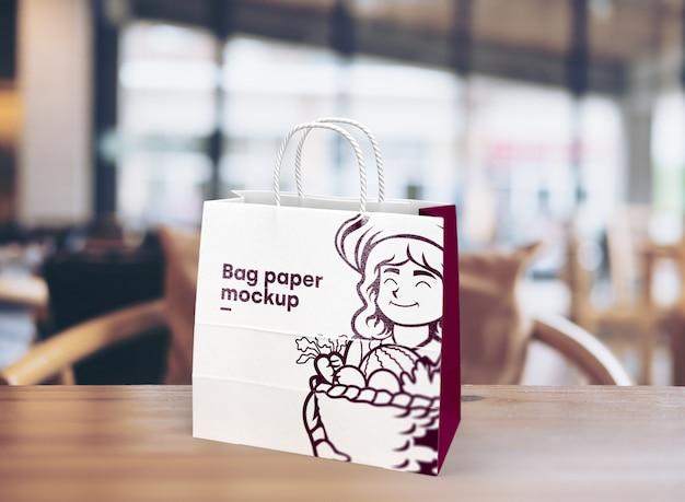 Maquete de sacola para merchandising