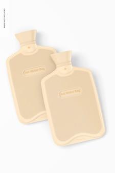 Maquete de sacos de água quente