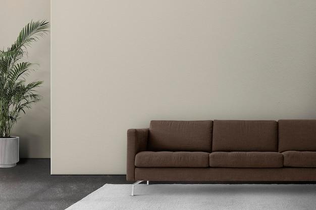 Maquete de sala de estar moderna com design de interior psd