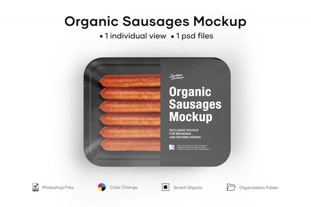 Maquete de salsichas orgânicas