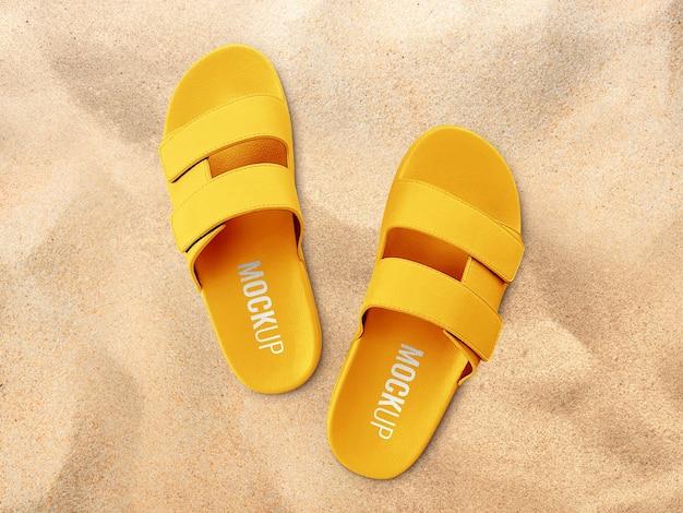 Maquete de sandálias de slide