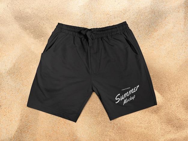 Maquete de shorts esportivos
