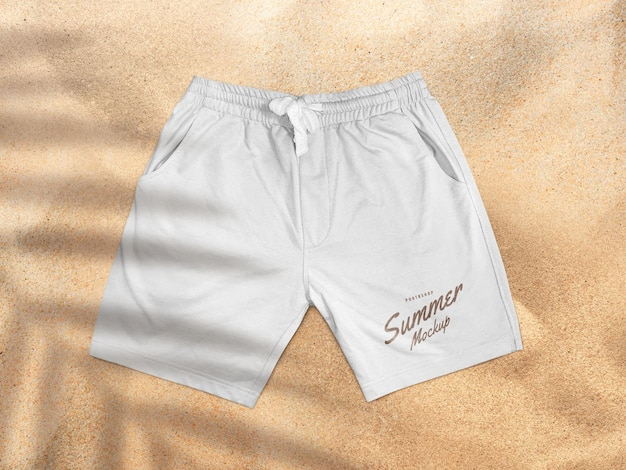 Maquete de shorts na praia