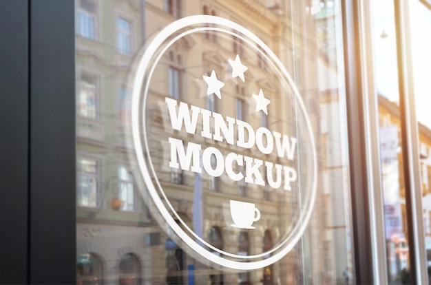 Maquete de sinalização de janela