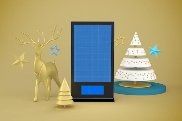 Maquete de sinalização digital de natal
