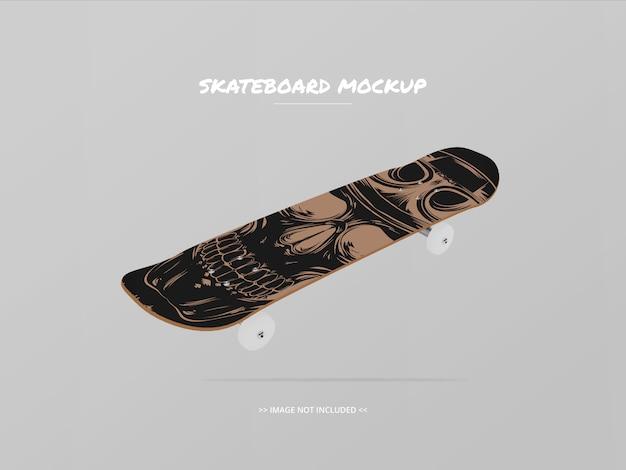 Maquete de skate lado superior - flutuante 2