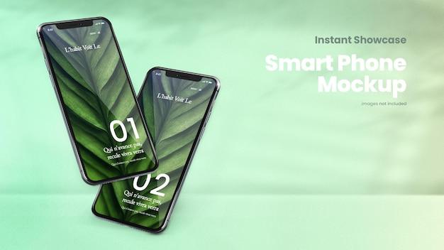 Maquete de smartphone clássico e maquete de tela