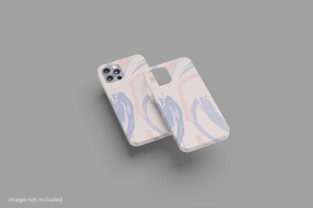 Maquete de smartphone com capa mínima