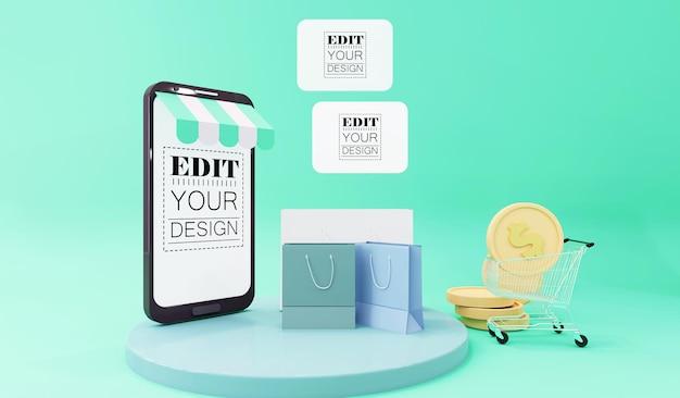 Maquete de smartphone com tela vazia