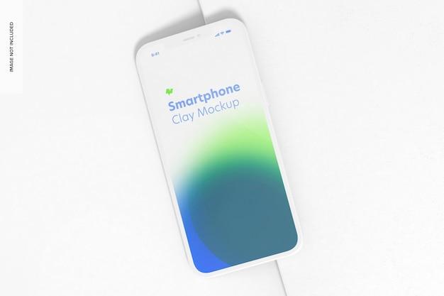 Maquete de smartphone de argila, perspectiva