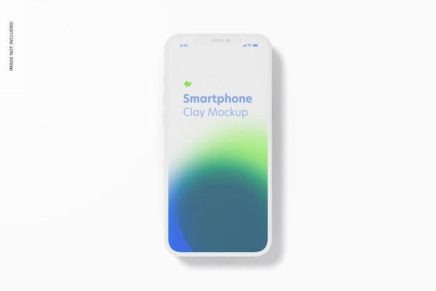 Maquete de smartphone de argila, vista superior