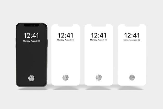 Maquete de smartphone de mídia social