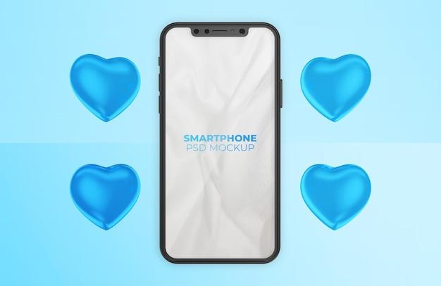 Maquete de smartphone do dia dos pais feliz