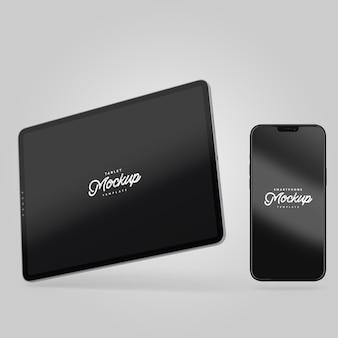 Maquete de smartphone e tablet