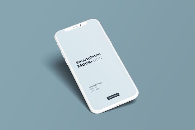 Maquete de smartphone em argila