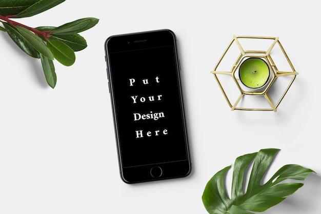 Maquete de smartphone em fundo branco
