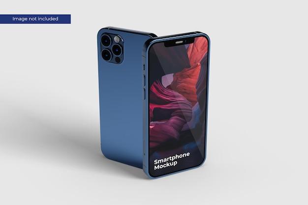 Maquete de smartphone em pé Psd Premium
