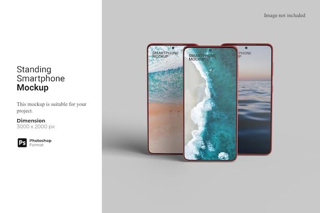 Maquete de smartphone em pé