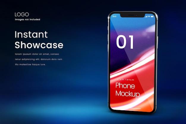 Maquete de smartphone em tela inteira