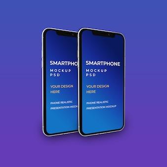 Maquete de smartphone. maquete de presença de aplicativo