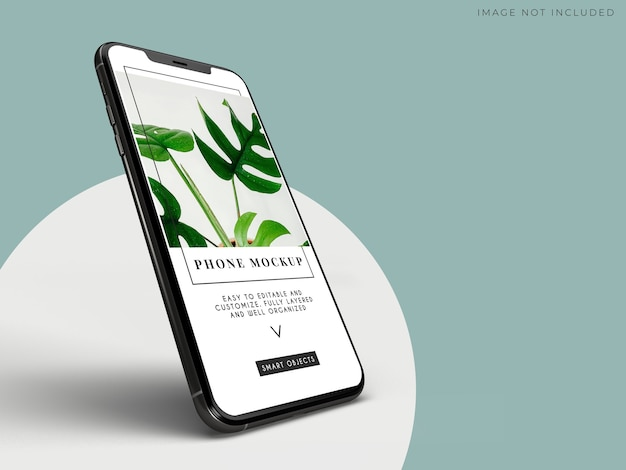 Maquete de smartphone móvel para negócios globais de identidade de marca