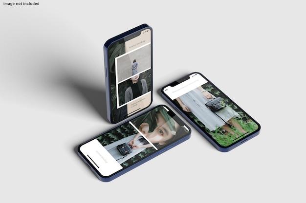 Maquete de smartphone para apresentação do projeto