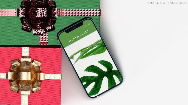 Maquete de smartphone para negócios globais de identidade de marca