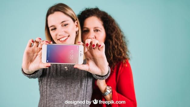 Maquete de smartphone para o dia das mães