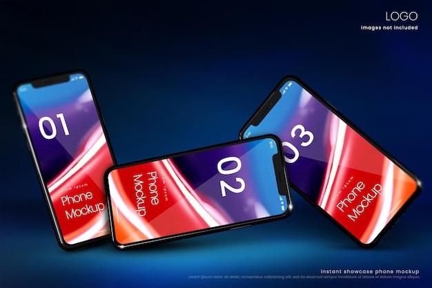Maquete de smartphone premium para exibição de aplicativo