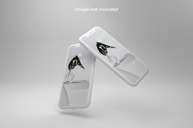 Maquete de smartphone realista e limpo