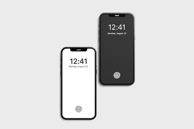Maquete de smartphone vista superior