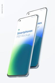 Maquete de smartphones em branco
