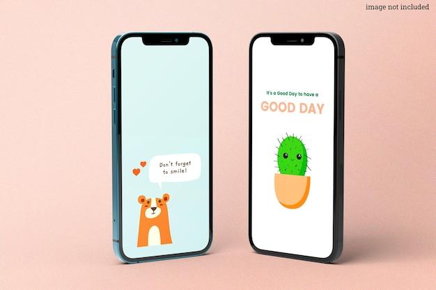 Maquete de smartphones