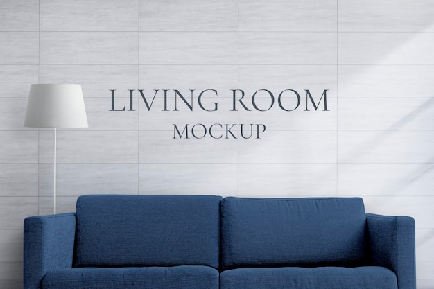 Maquete de sofá doméstico, móveis de sala de estar psd