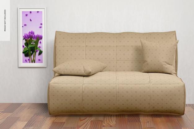 Maquete de sofá, vista frontal