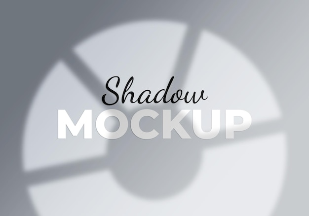 Maquete de sombra de janela de fundo abstrato
