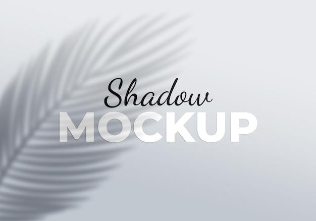 Maquete de sombra do elemento de design de folhas de palmeira