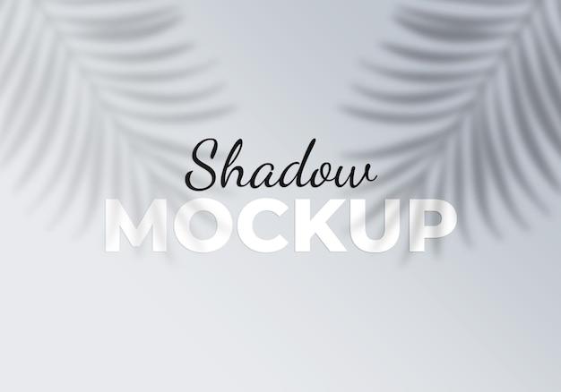 Maquete de sombra do elemento de design de folhas