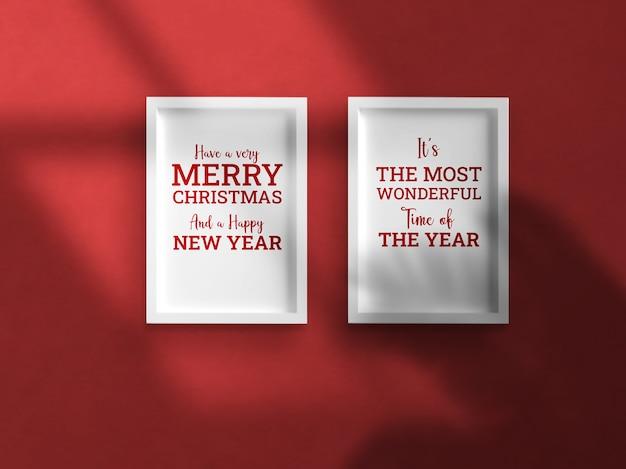 Maquete de sombra projetada para parede de celebração de natal
